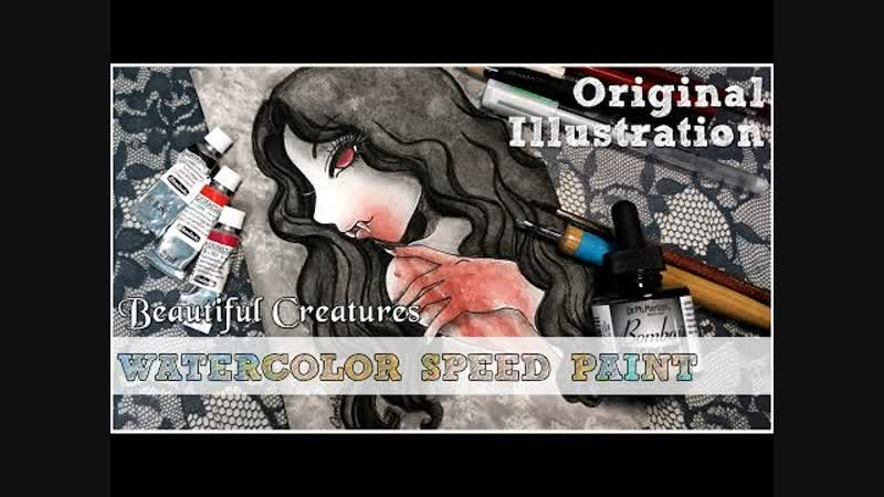Beautiful Creatures List 18 Fangs Vampire Watercolor Speed Paint