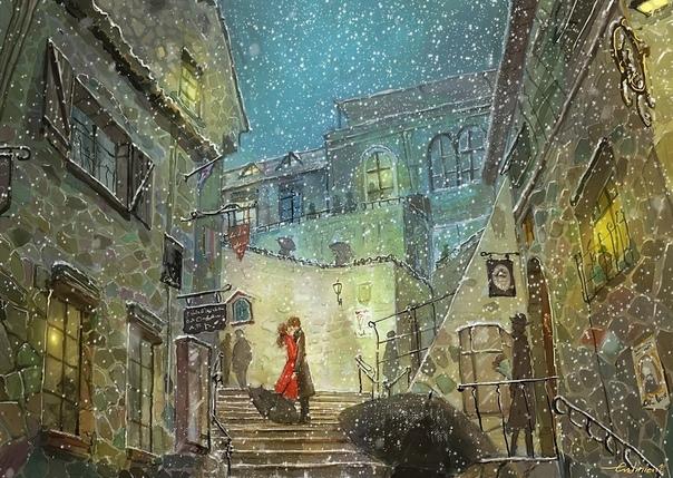 Есть на свете художник-иллюстратор Ли ЧонСок, известный по нику Endmion1, родившийся в 1981 г в Корее.Художник, в чьих картинах переплелась сказка и реальность. Вот, что он сам о себе пишет:Я