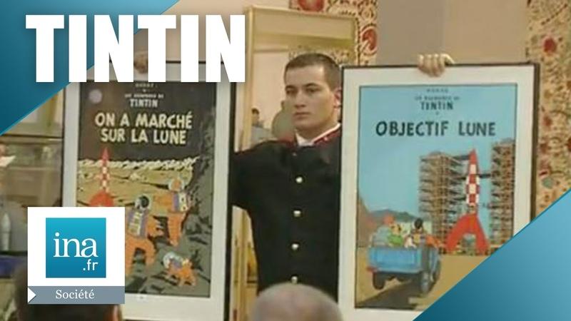 Vente aux enchères Tintin   Archive INA