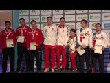 2017 European Championship 10m, Maribor, Slovenia Victory Ceremony, Air Rifle Men Junior Team