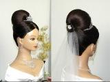 Свадебная прическа на длинные волосы своими руками (видео урок) [zhezelru]