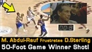 Mahmoud Abdul Rauf's 50 foot Game Winner Frustrates Ex Clippers Owner Donald Sterling