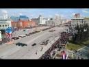 Live: НГС (Новосибирск) торжественный парад 9 мая на площади Ленина