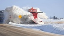 Awesome Powerful Trains Snow Plow Compilation