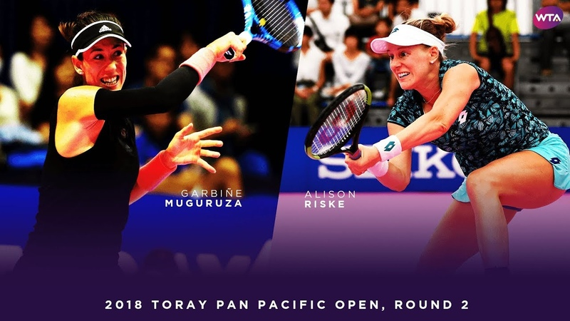 Garbiñe Muguruza vs. Alison Riske | 2018 Toray Pan Pacific Open Round 2 | WTA Highlights