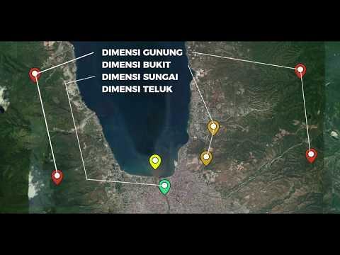 Palu Kota Empat Dimensi yaitu Dimensi Gunung, Dimensi Bukit, Dimensi Sungai dan Dimensi Teluk