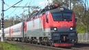 По 4 неправильному пути! Электровоз ЭП20-027 с фирменным поездом №30 Москва - Новороссийск
