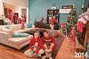 Семья начала делать рождественские открытки «Настоящая жизнь» 5 лет назад…