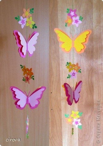 Мобиль - бабочки