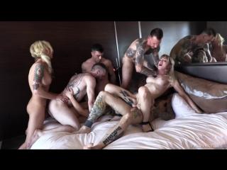 Aubrey Kate Plus 8 (Part.1) [2018 г., Transsexual, Gonzo, Anal, Gang Bang, 720p]