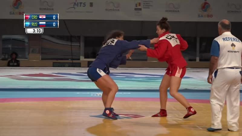 Марина Мохнаткина vs. Луция Бабич.Самбо. Чемпионский поединок.
