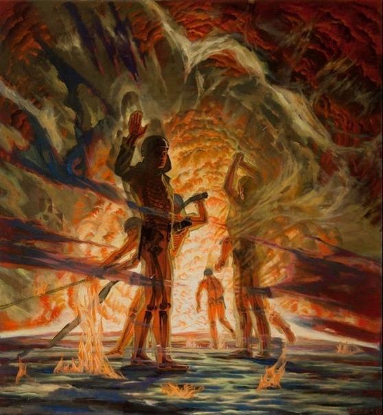 Картина «Подвиг пожарных Чернобыля»