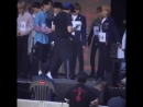 Johnny kneeing mark's butt