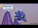 Cynder low poly art 3D modelling in blender (timelapse)