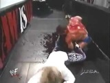 Ken Shamrock Gets A Blood Bath From The Brood