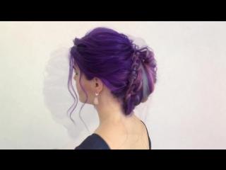 Цветные косы /пучок от @kolpakovalena
