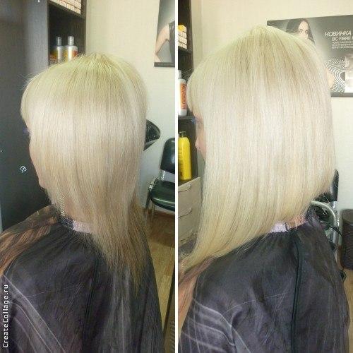 Наращивание волос каре на удлинение фото