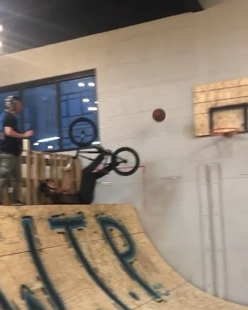 """DIG BMX on Instagram """"The @wethepeoplebmx mini ramp party in Minnesota is the best thing post X Games right now. @erikelstran shooting hoops 🏀"""""""