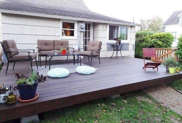 Как создать деревянную террасу возле дома...