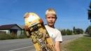 Классный скейт круизер даунхил по русски. Отдыхаем у прабабушки в Городне на Волге