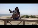 Футбольный фристайл на Куршской косе от бразильянки Raquel Benetti