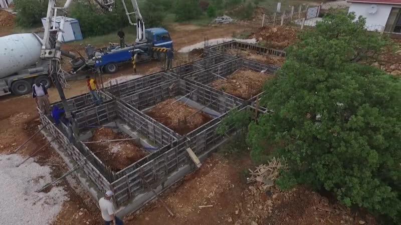 Первый этап строительства-Фундамент и стяжка дома-Отчет № 1-7-18