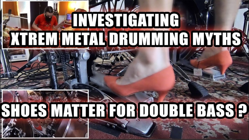 280BPM with HEELS Does shoes matter for double bass INVESTIGATING XTREM METAL DRUMMING MYTHS