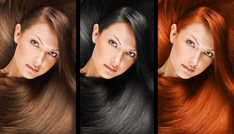 Покраска волос цвета красок