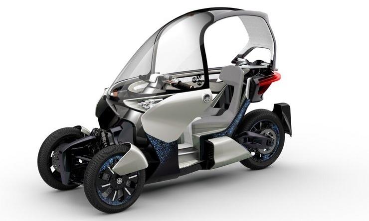 Патентные рисунки нового трицикла Yamaha с наклоняющейся подвеской
