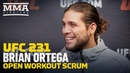 UFC 231 Brian Ortega Still Not Convinced Max Holloway Will Make it to UFC 231 MMA Fighting