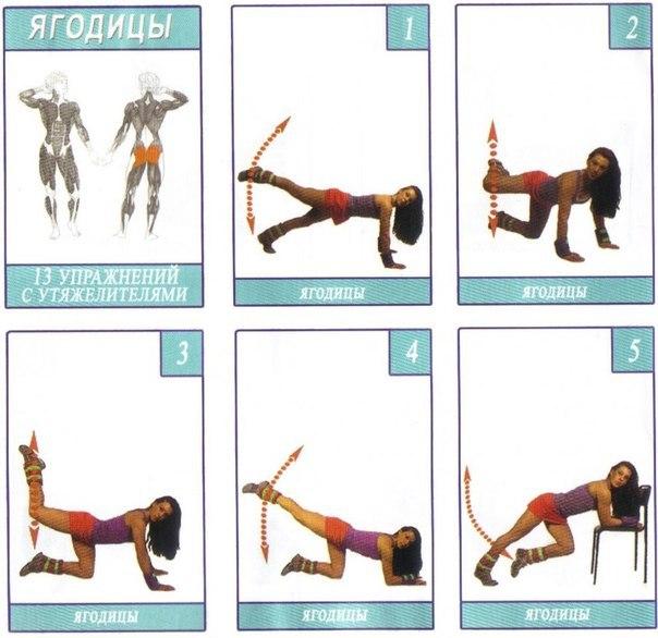 Упражнения для ягодичных (3 фото) - картинка