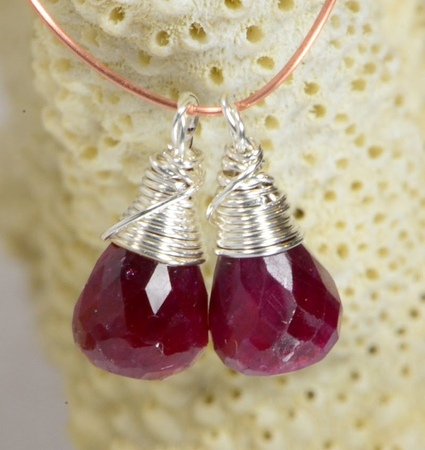 How wire wrapped briolette Gemstone wire wrapped charm
