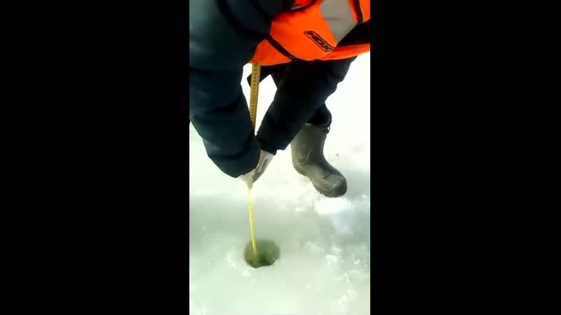 Выходить на лёд опасно!