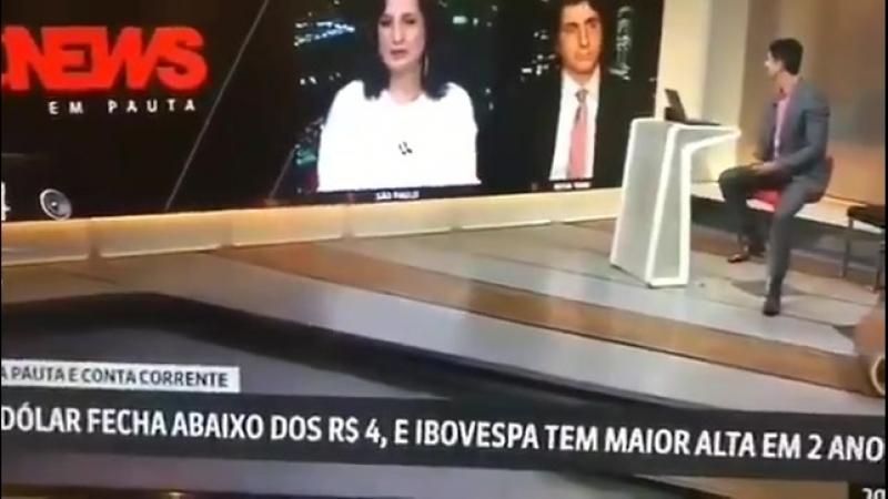 Globo News paga pau para Jair Messias Bolsonaro
