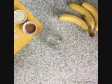 Смузи из бананов и овсяных хлопьев
