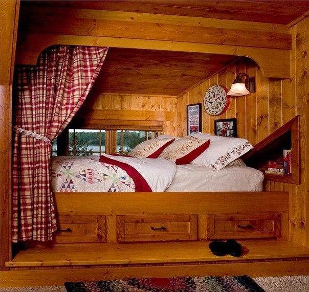 Спальный уголок в загородном доме (1 фото) - картинка