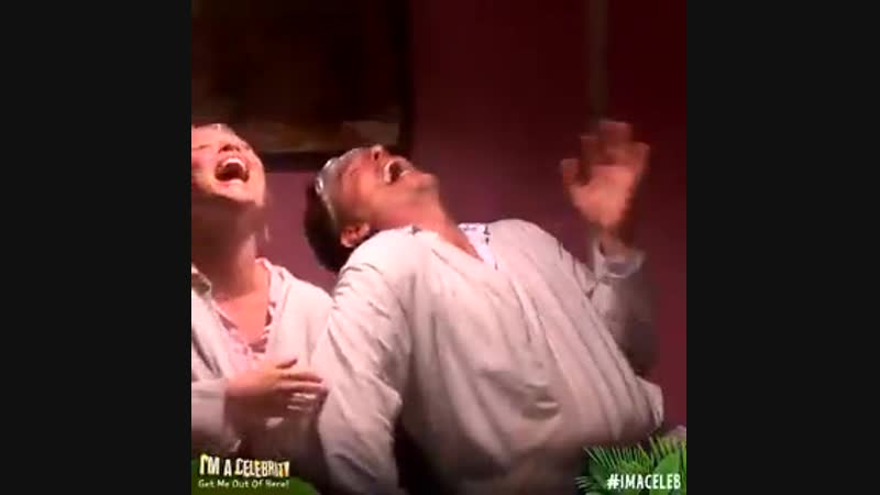 When youre laughing so hard with your best mate no sound even comes out. @JohnBarrowman @EmAtack. ImACeleb