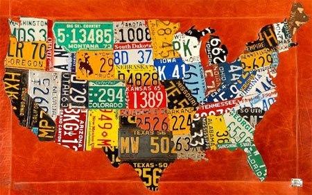 История американских авто номеров