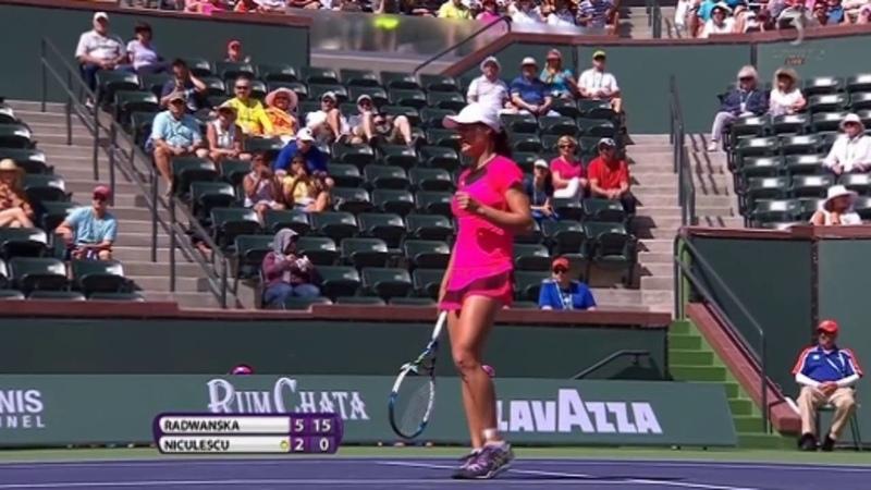 Agnieszka Radwanska vs Monica Niculescu Highlights INDIAN WELLS 2016