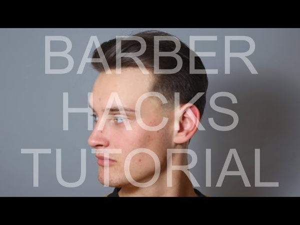 Barber Hacks Supreme Classic 90s Brad Pitt Middle Part Haircut Tutorial With Temple Taper