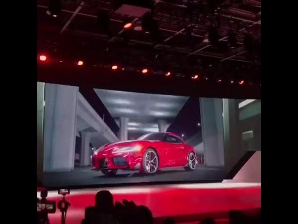 Презентация новой Toyota Supra в Детройте/Brand New Toyota Supra Presentation Detroit