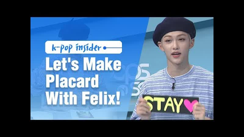 190718 Let's Make Stray Kids Placard With Felix @ Pops in Seoul