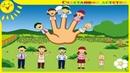 Семья Пальчиков. Песенка на английском языке. Папа пальчик, Мама пальчик The Finger Family Song