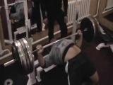 Найманбаев Закир bench press 190kg x4. 1994года вес 120кг