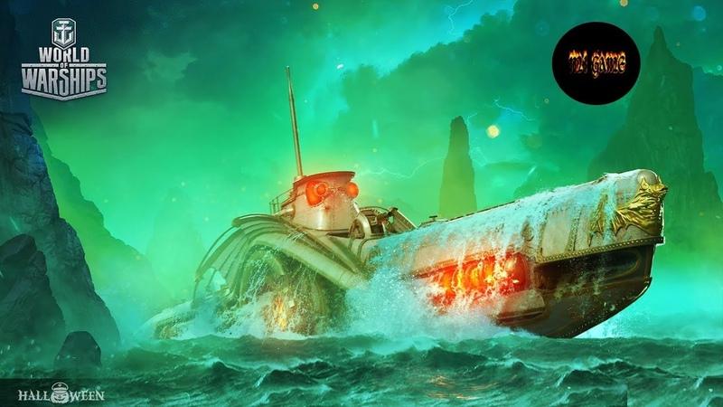 WoWs - Ужас глубин,подлодка Barracuda