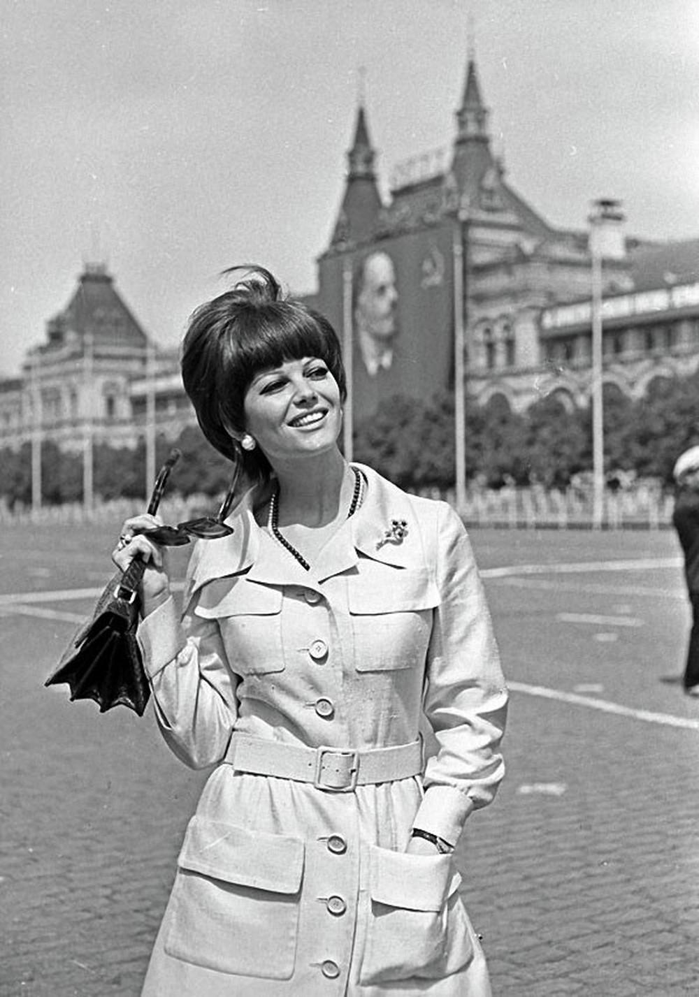 Клаудия Кардинале в Москве, 1967 год