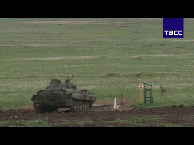 Поражение целей на огневых рубежах танкового биатлона достигло 90%