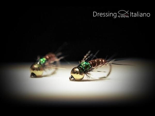 Costruzione ninfe: EMERALD P.T by Dressing Italiano - Fly Tying Italy