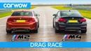 BMW M2 Comp vs M4 Comp - DRAG RACE, ROLLING RACE, TRACK BATTLE and DRIFT OFF