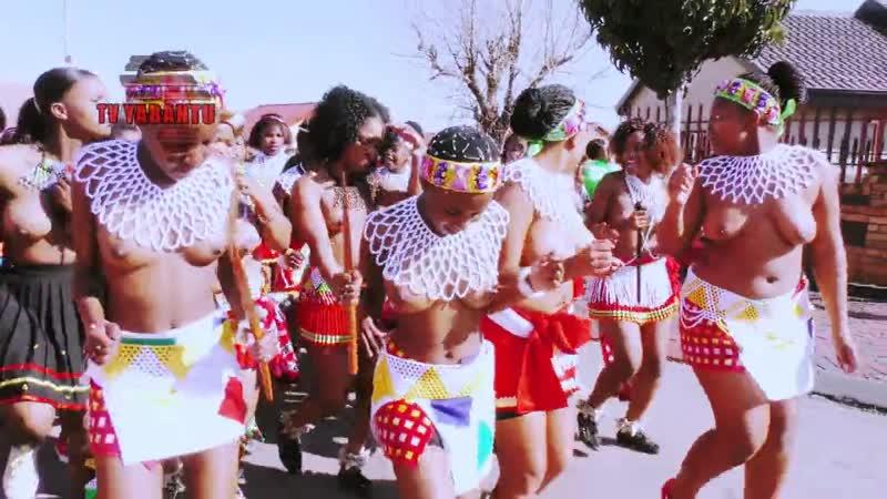 Sexy African Black Zulu Naked Girls Dance